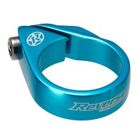 Reverse MTB Sattelklemme Bolt Clamp - 34,9 mm - Hellblau...
