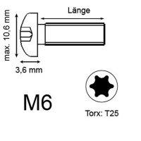 Titan Schraube M6 x 20mm - Torx T25 Linsenkopf ISO 7380 -...