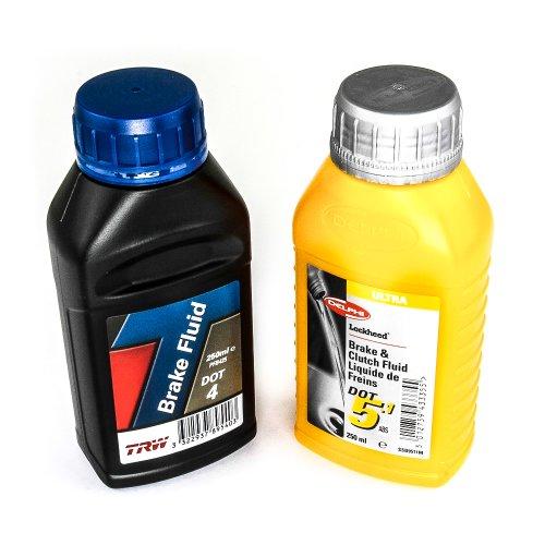 DOT Bremsflüssigkeit für hydraulische Bremsenl - DOT 4 / 5.1 - 250 ml