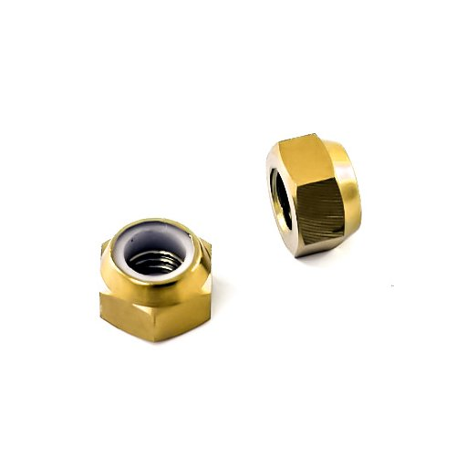 TB selbstsichernde Mutter - Titan Grade 5 - Gold - DIN985