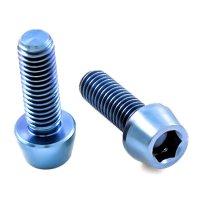 Titan Schrauben - Innensechskant konischer Kopf - Blau