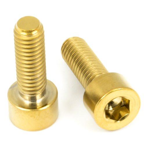 Titan Schrauben - Innensechskant Zylinderkopf - DIN 912 - Gold Nirtiert