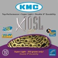 KMC Kette X-10-SL - Gold - 241 g pro 114 Glieder - 10-fach