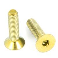 Titan Schrauben - Innensechskant Senkkopf - Gold nitriert
