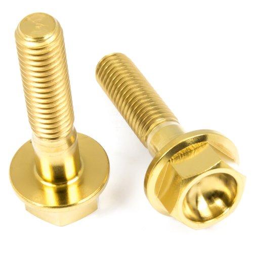 Titan Schrauben - Sechskant mit Bund - DIN6921 - Gold nitriert