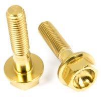 Titan Schrauben - Sechskant mit Bund - DIN6921 - Gold...