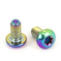 Titan Schraube M5 x 10 mm - Torx Linsenkopf - Bunt / Rainbow