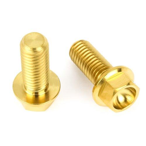 Titan Schrauben - Flacher Sechskant mit Bund - Gold nitriert