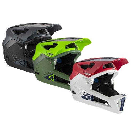 Leatt Helm MTB 4.0 Enduro - mit abnehmbarem Kinnbügel