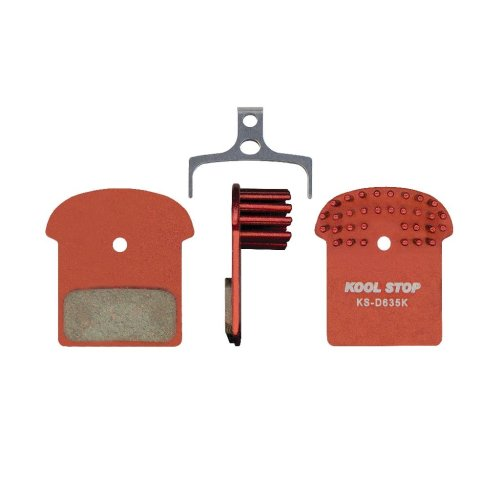 Kool Stop - Bremsbeläge für Shimano XTR (BR-M9000) / XT (BR-M8000) / SLX (BR-M7000) / Alfine (BR-S700) - Organisch mit Kühlrippen