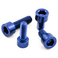 Aluminium - Schrauben - Zylinderkopf DIN 912 - Blau