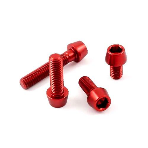 Bevorzugt Rot eloxierte Aluminium Schrauben konischer Kopf bestellen, 1,70 € DL91