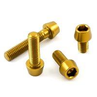 Aluminium - Schrauben - Innensechskant konischer Kopf - Gold